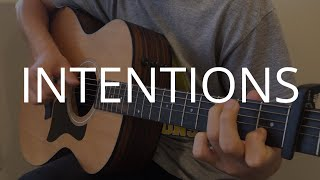 FREE TABS Intentions - Justin Bieber ft Quavo Fingerstyle Guitar Cover