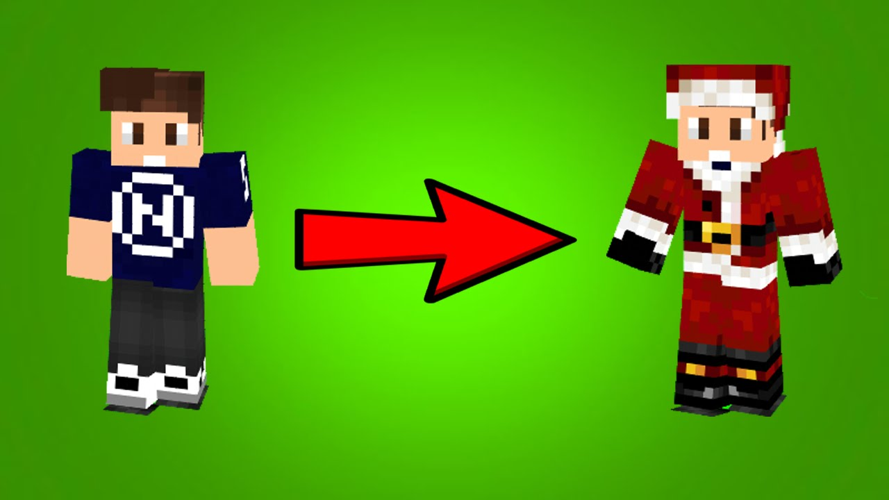 How to Add a Santa Outfit to Your Minecraft Skin!! - YouTube