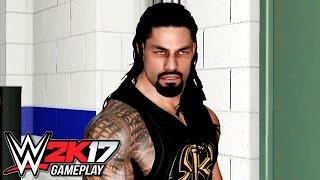 WWE 2K17 Roman Reigns Crowd & Backstage Brawls (Roman Reigns vs Sami Zayn PS4)