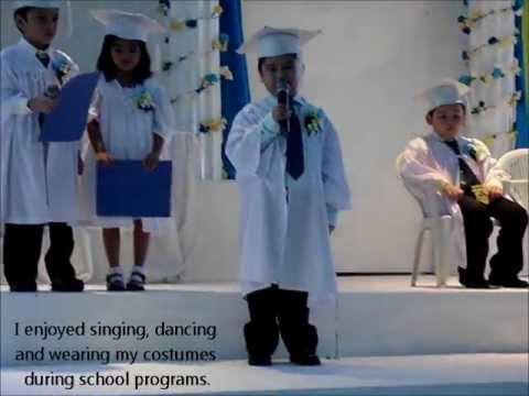sample graduation speech for kindergarten student
