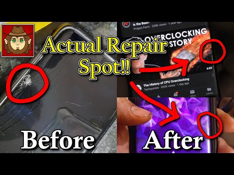 Broke Phone Fix With Toothpaste, Superglue and Resin! (Repairing cracked phone screen.)