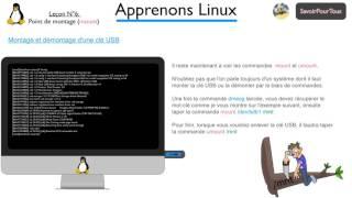 Leçon 06: mount et umount sous Linux - Script Shell