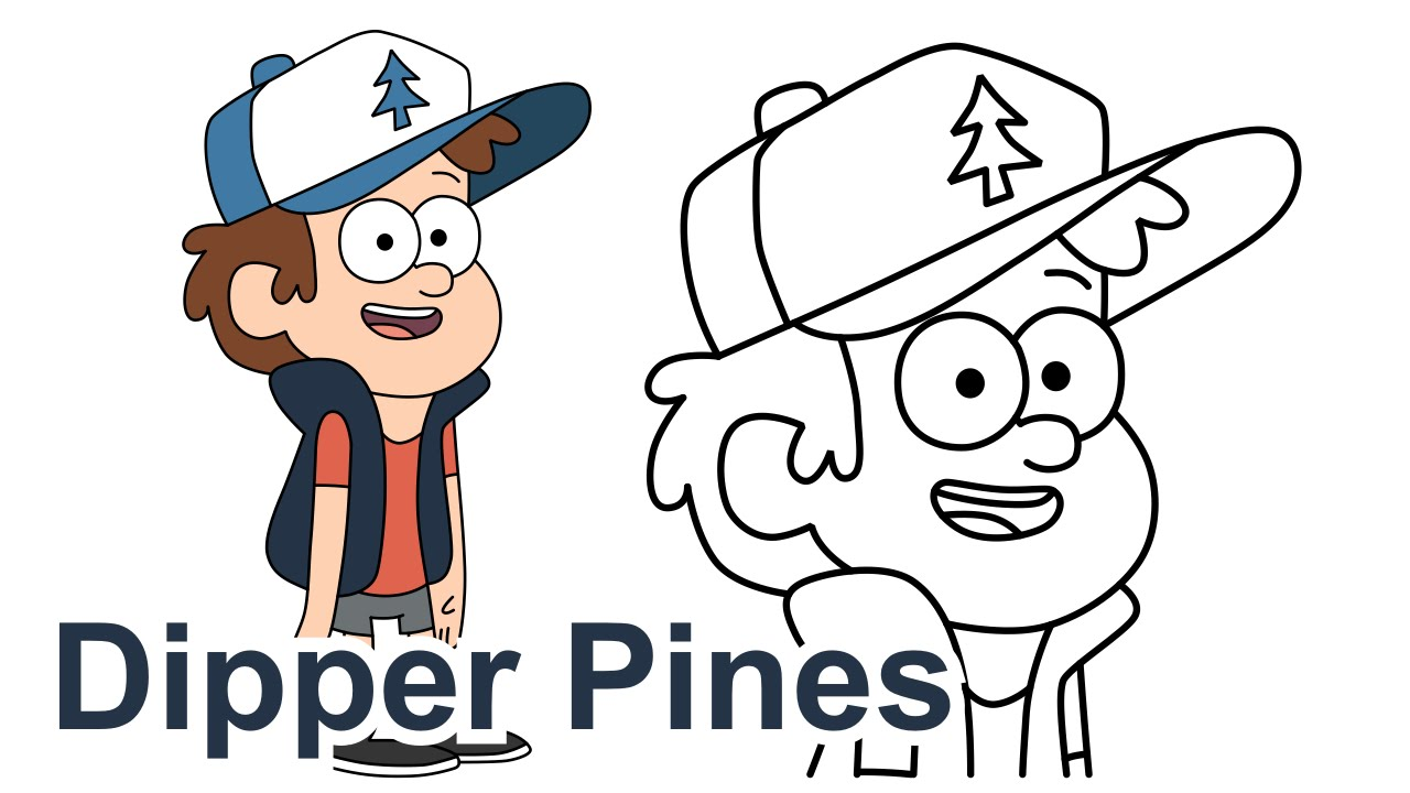 How To Draw Dipper Pines Gravity Falls Disney
