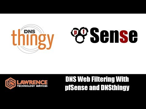 DNS Web Filtering With pfSense and DNSthingy