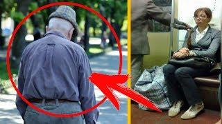 КАРМАННИЦА в метро залезла к ДЕДУШКЕ в карман Но мужчина не остановил ее а... ЗАУВАЖАЛ