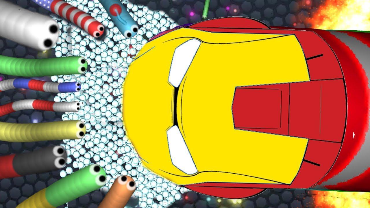 Slither.io | Iron Man Destroying The Server!!!(slitherio #2)