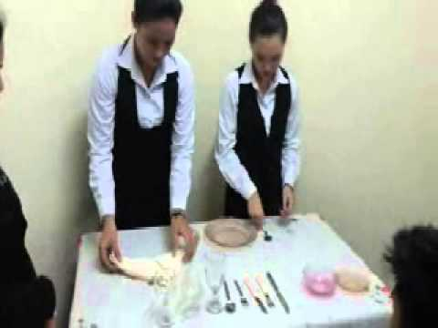 Sena Catering Services Incorporation ( training on table setting )