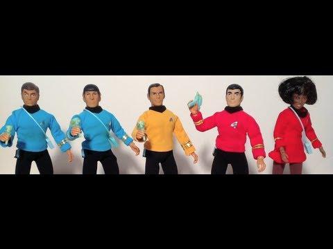 Soundout Review - Vintage MEGO - Star Trek - Krik, Spock, McCoy, Scottie and Uhura