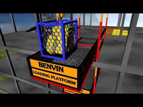Benvin Deck Crane and Loading Platform demo