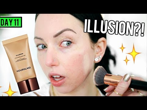 HOURGLASS ILLUSION HYALURONIC SKIN TINT [First Impression Review & Demo] 15 DAYS OF FOUNDATION