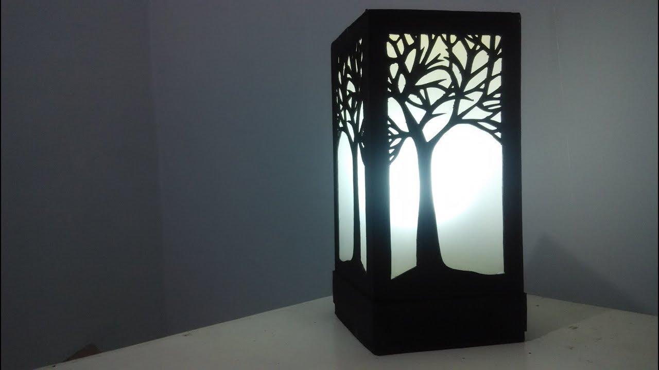 Diy Cara Membuat Lampu Tidur Keren Dari Kertas Karton