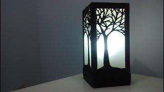 #diy #lamp #lamputidur #pappercraft membuat lampu tidur dengan bahan dasar kertas karton. diy - how to make night lamp (sleep lamp) using paper untuk y...