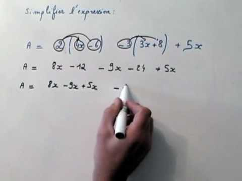 Exercice corrigé de mathématique niveau quatrième : savoir développer une expression