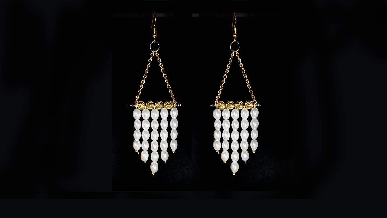 Pearl earring tutorial fashion jewellery quick and easy diy youtube pearl earring tutorial fashion jewellery quick and easy diy arubaitofo Image collections