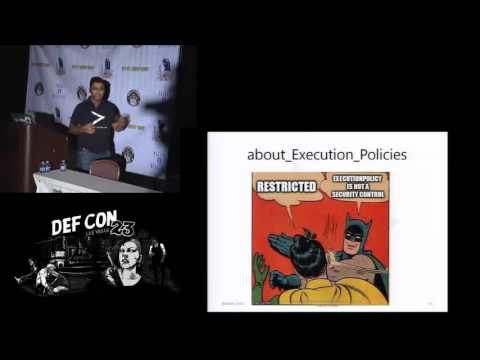 DEF CON 23 - Packet Capture Village - Nikhil Mittal - Powershell for Penetraton Testers