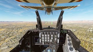 USAF Thunderbirds F-16 Cockpit Landing in LAS VEGAS 4K