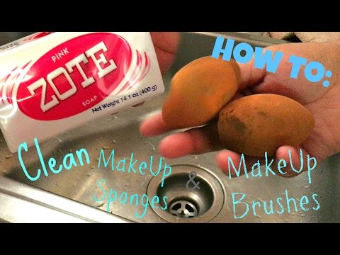 How To: Clean MakeUp Sponges And Brushes
