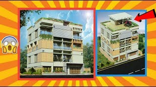 Modern style beautiful house design !! Bangladeshi & Indian style. Must watch.