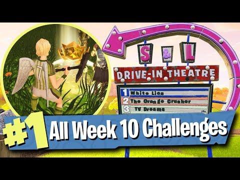 Fortnite WEEK 10 CHALLENGES Guide (Search Between Movie Titles) - Fortnite Battle Royale