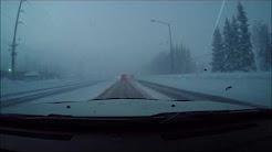 Driving in Fairbanks Alaska in -52F below zero in a dodge charger