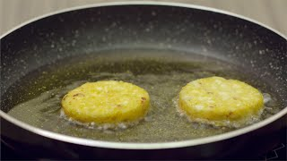 Frying aloo tikki/ potato cutlet in a nonstick frying pan