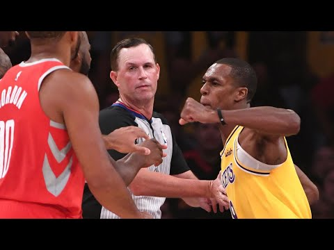 Lakers vs Houston full game with fight !!!