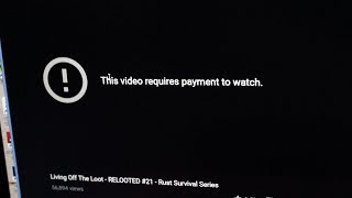 This Video REQUIRES PAYMENT To Watch! | A Horrifying YouTube Glitch