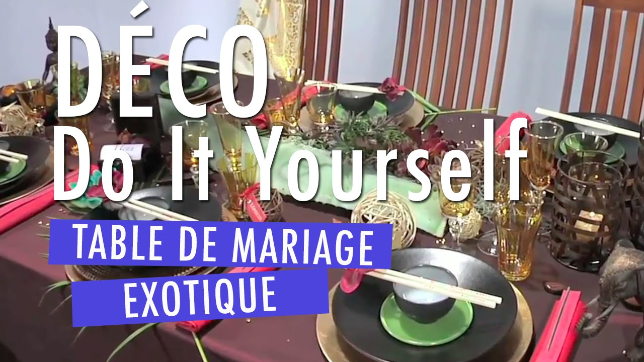 D Co Table Mariage Mod Le Exotique Youtube