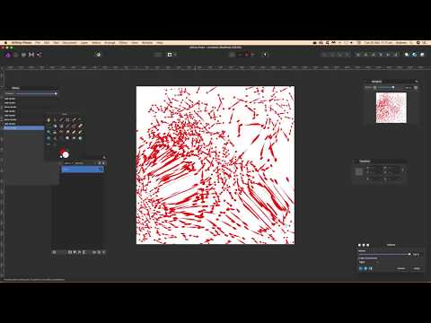 How to create random line texture backgrounds in Affinity Photo tutorial