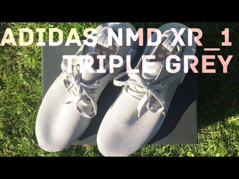 adidas-nmd_xr1-triple-grey-|-unboxing-|-on-feet