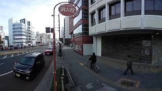 2018高知龍馬マラソン大会スタート 360度動画 本町郵便局前から全ランナー