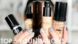 MY 5 MUST HAVE FOUNDATIONS AT THE MOMENT | BEAUTYYBIRD