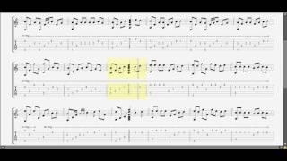 Chiếc Khăn Gió Ấm ! Nguyễn Văn Chung (Am) guitar solo tab by D U Y