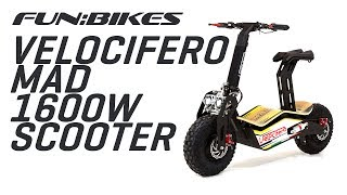 Velocifero MAD 48 Volt 1600W Yellow Electric Scooter