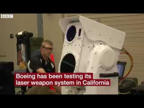 BBC News Boeing laser shoots drone from sky