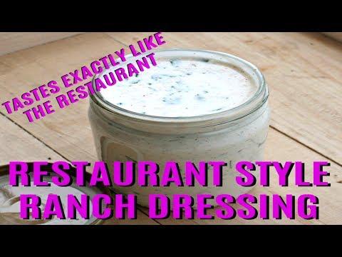 DIY Ranch Dressing Recipe Restaurant Style - Homemade Ranch Salad Dressing Recipe