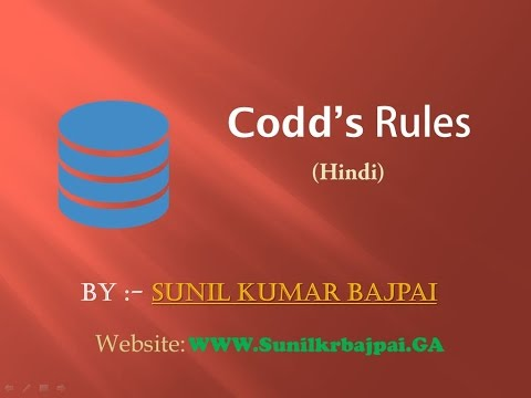 Lec 6:-- Codd's Rules. (hindi)