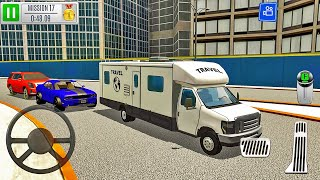 Vacation Camper Van Driving - Multi Level 7 Car Parking Simulator - Android Gameplay