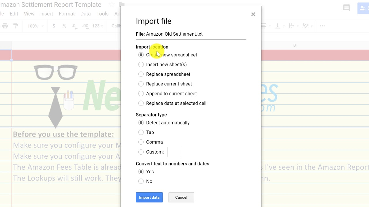 Import csv Files Directly Into Google Sheets