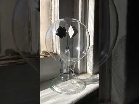 Vintage solar powered radiometer