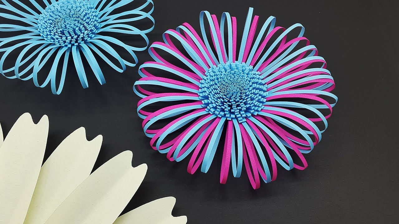 Fluffy Paper Flower Centers Making Tutorial   DIY Paper Flowers