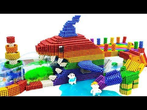 DIY - Build Amazing Shark Swimming Pool Fish Tank With Magnetic Balls (Satisfying) - Magnet Balls