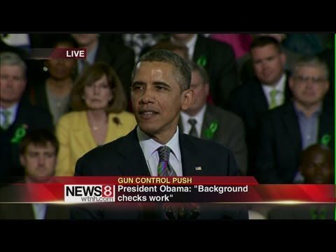 President Obama speaks on federal gun legislation