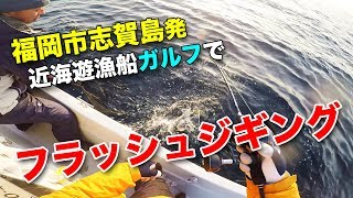 福岡市の志賀島から「近海遊漁船ガルフ」さんに乗って、フラッシュジギ...