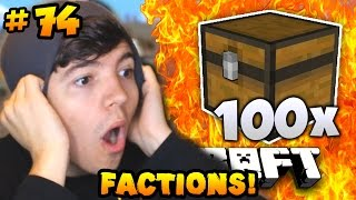 "Minecraft FACTIONS VERSUS ""OPENING 100x LEGENDARY CHESTS!"" #74 w/ PrestonPlayz"