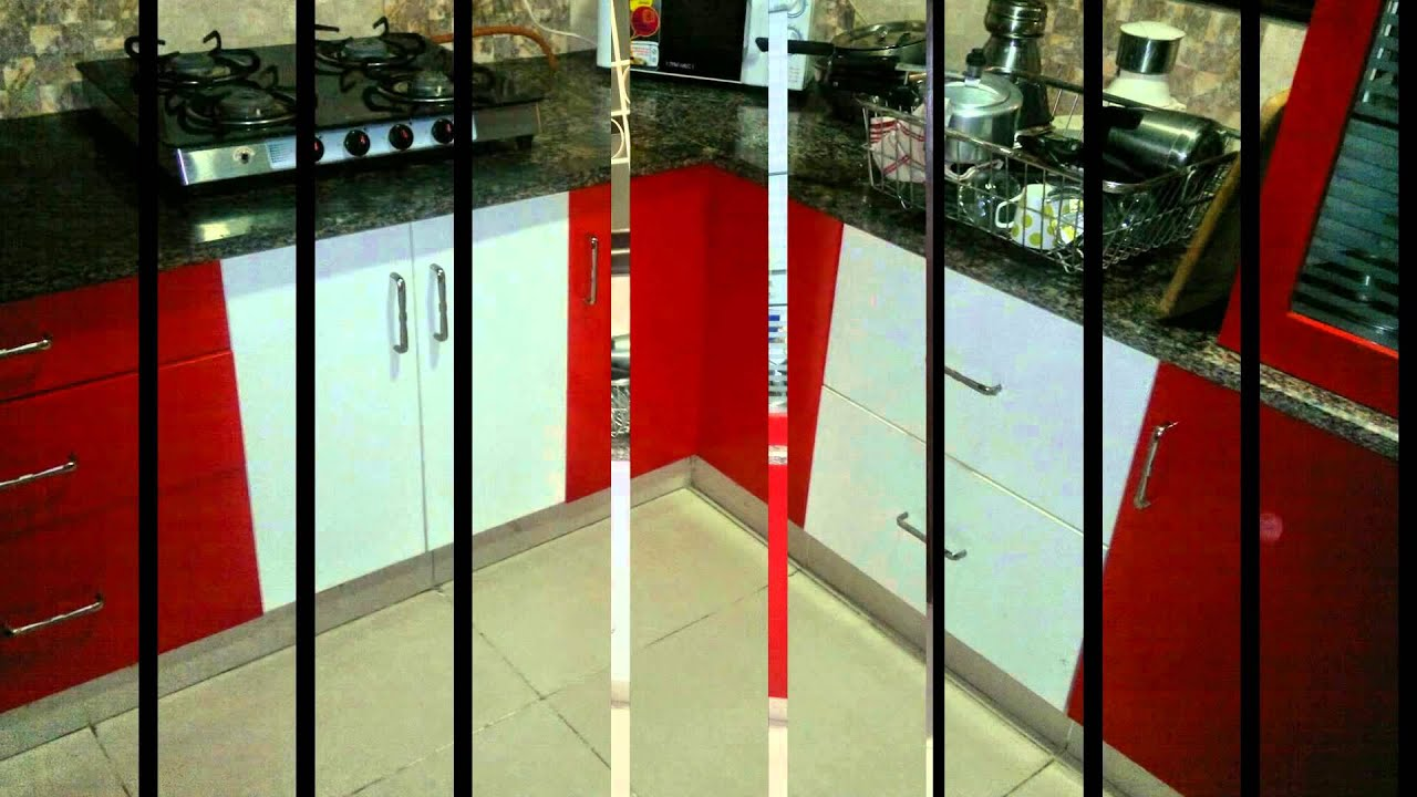 Kitchen Design Red And White. High Gloss Red and White Kitchen at 8 Streaks Interiors  YouTube
