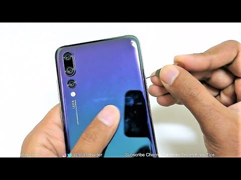 Huawei P20 And P20 Pro How To Insert Sim Cards Youtube