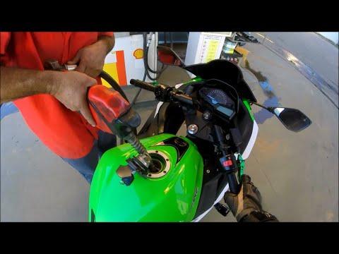 Quantos Km/L faz a Kawasaki Ninja 300? - Novo Vídeo de Consumo - Suave na Rodovia - Gasolina Comum