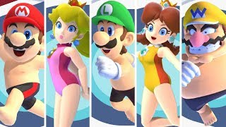 All Team Mario Characters (Swimming) - Mario & Sonic at the Olympic Games Tokyo 2020