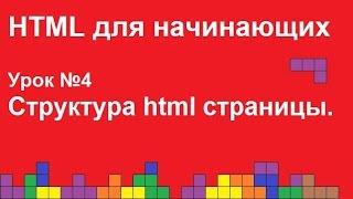 HTML для начинающих.  Урок 4.  Структура html страницы.